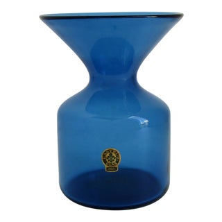 Vintage Kastrup Glass Accent Vase For Sale