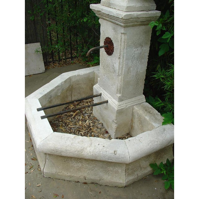 French Carved Limestone Wall Fountain from France For Sale - Image 3 of 5