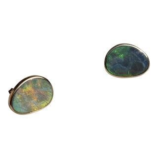 Boulder Opal Stud Earrings For Sale