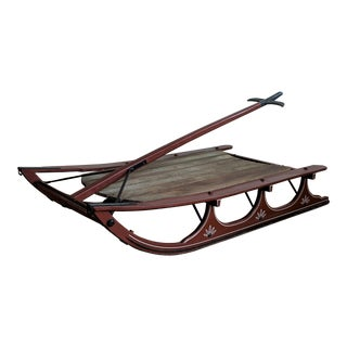 Vintage Wood Maple Sled For Sale