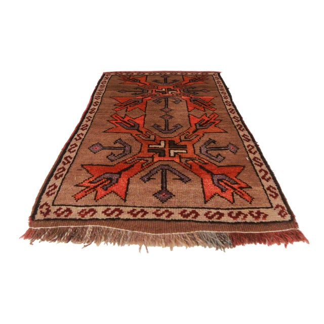 """Hand Knotted Wool Turkish Rug - 1' 10"""" X 2'10'' - Image 2 of 2"""