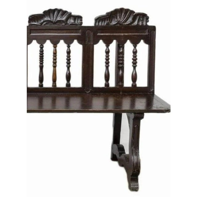 18th Century Rustic Spanish Long Bench For Sale - Image 4 of 5