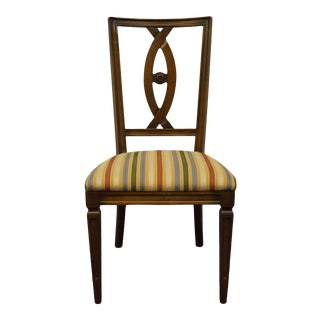 Italian Century Furniture Walnut Dining Side Chair For Sale