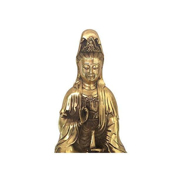 Quan Yin Brass Statue - Image 6 of 8