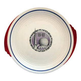 1940 New York World's Fair Art Deco Cake Plate For Sale
