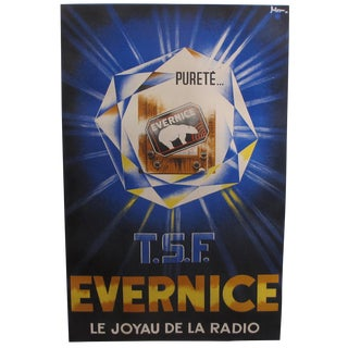 1930s Original Art Deco French Radio Poster, Polar Bear For Sale