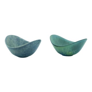 Gunnar Nylund Ceramic Miniature Bowls - a Pair For Sale