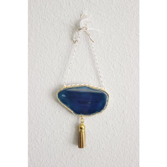 Modern Boho Blue/Cobalt Agate Holiday Ornament - Image 3 of 6