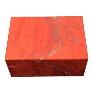 1980s Nardi of Venice Jasper Stone Box For Sale