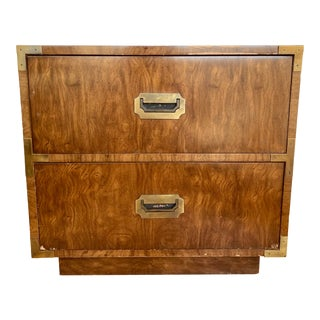 Late 20th Century Dixie Campaign Nightstand For Sale