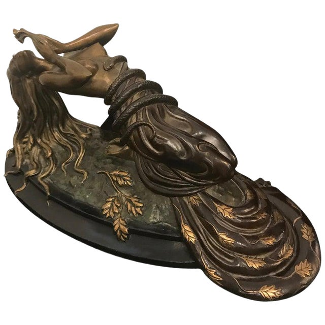 "1984 Erte Ltd Ed ""Perfume"" Bronze Sculpture by Romain De Tirtoff For Sale"