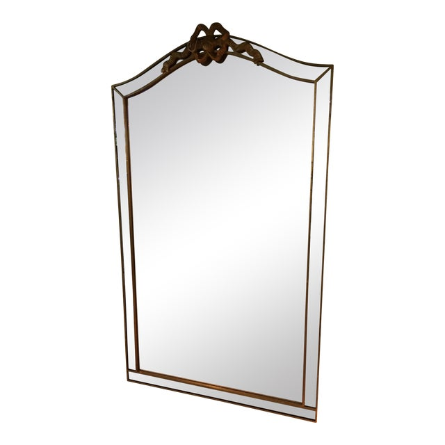 Gold Bow Framed Mirror - Image 1 of 3
