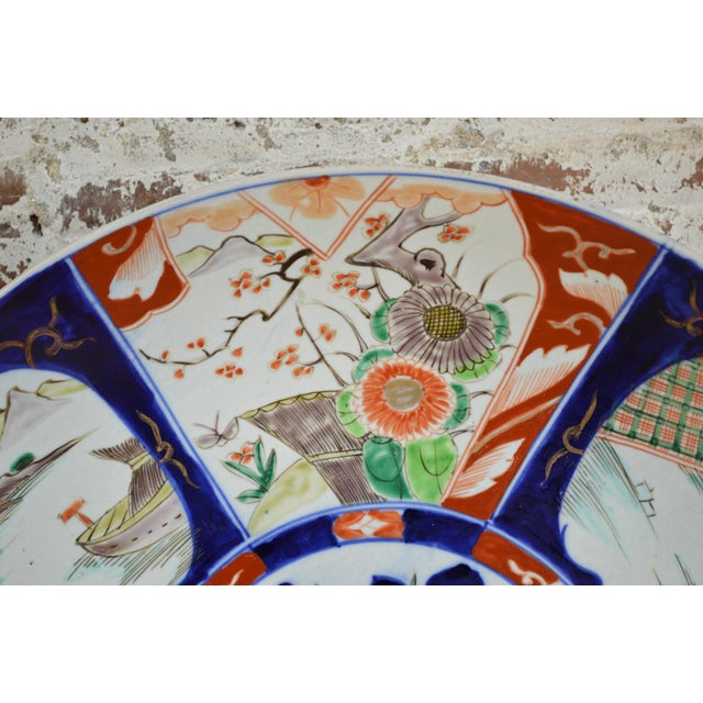 Asian 19th Century Paneled Japanese Imari Charger For Sale - Image 3 of 10