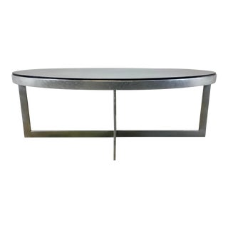 Maitland-Smith Modern Penshell Oval Cocktail Table For Sale