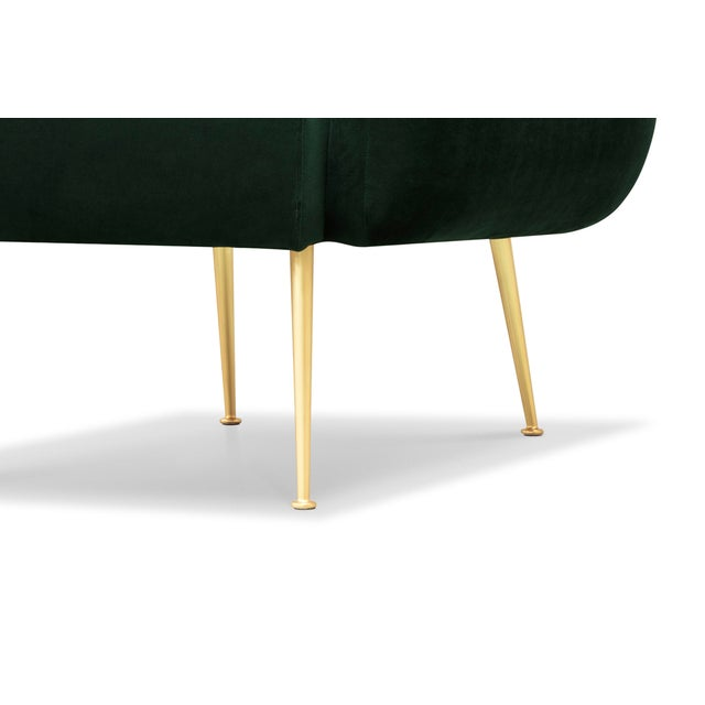 Channeled Side Chair in Dark Green - Image 5 of 6