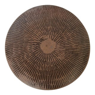1970s Brutalist Studio Art Pottery Ceramic Plate