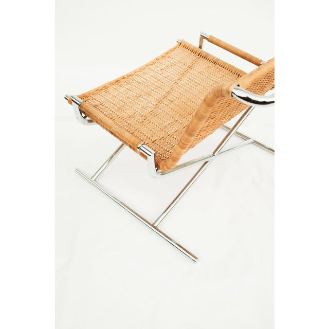 Ward Bennett Wicker Sled Lounge Chair for Brickel Associates For Sale - Image 9 of 10