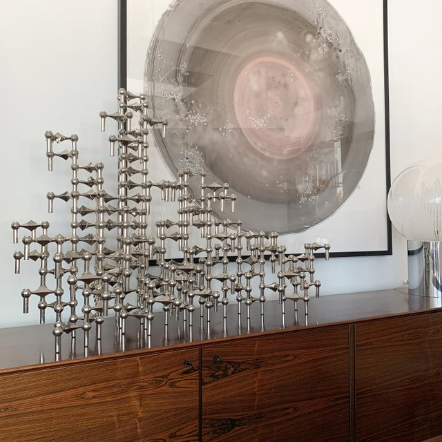 Set of 100 Piece Modular Candlestick Sculpture by Fritz Nagel and Caesar Stoffi For Sale - Image 10 of 11