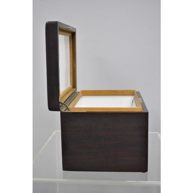 Metal Early 20th Century Antique Mahogany Cigar Humidor For Sale - Image 7 of 11