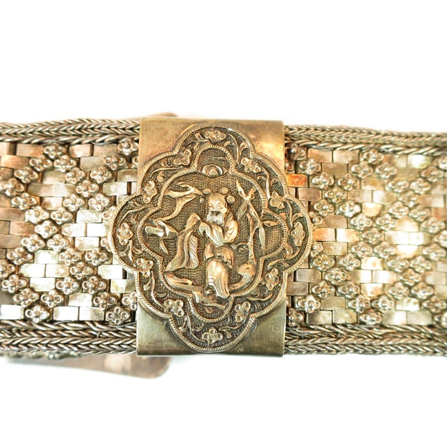 Metal Early 19th Century Asian Silver Belt, China 1830s For Sale - Image 7 of 13