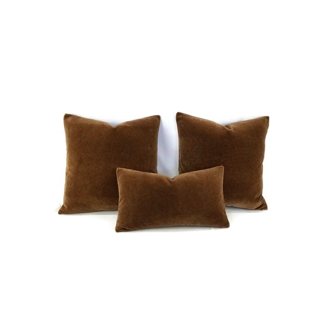 Mohair Velvet Dark Brown Pillow Cover For Sale - Image 4 of 7