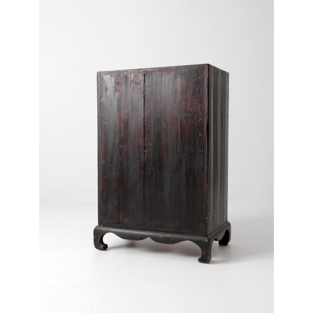 Asian Antique Lacquered Asian Cabinet For Sale - Image 3 of 9
