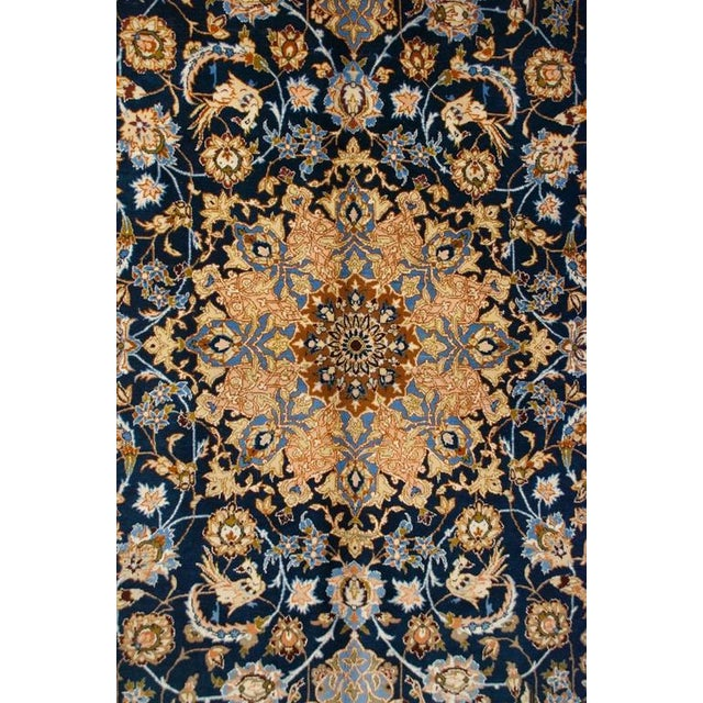 Whimsical Early 20th Century Isfahan Rug - 5′1″ × 7′7″ For Sale In Chicago - Image 6 of 7