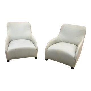 1980s Contemporary Donghia Style Club Chairs - a Pair For Sale