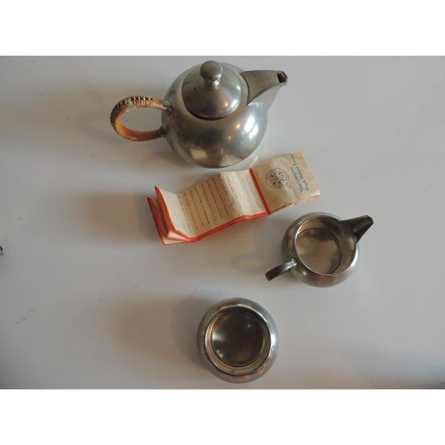 Vintage Decorative Pewter Tea Set. For Sale - Image 9 of 10