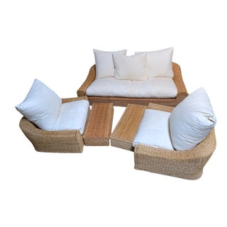 Michael Taylor 5 Piece Wicker Furniture Set For Sale