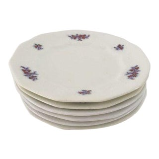 Antique Chelsea Ware With Grape Pattern Bread or Dessert Plates S/6 For Sale