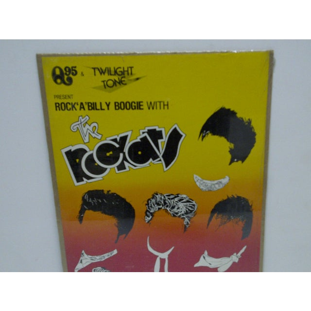 """Americana 1980 """"Rock-A-Billy Boogie"""" Concert Poster For Sale - Image 3 of 4"""