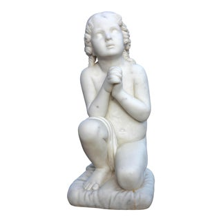 """""""Little Samuel"""" Neoclassical Marble Sculpture For Sale"""