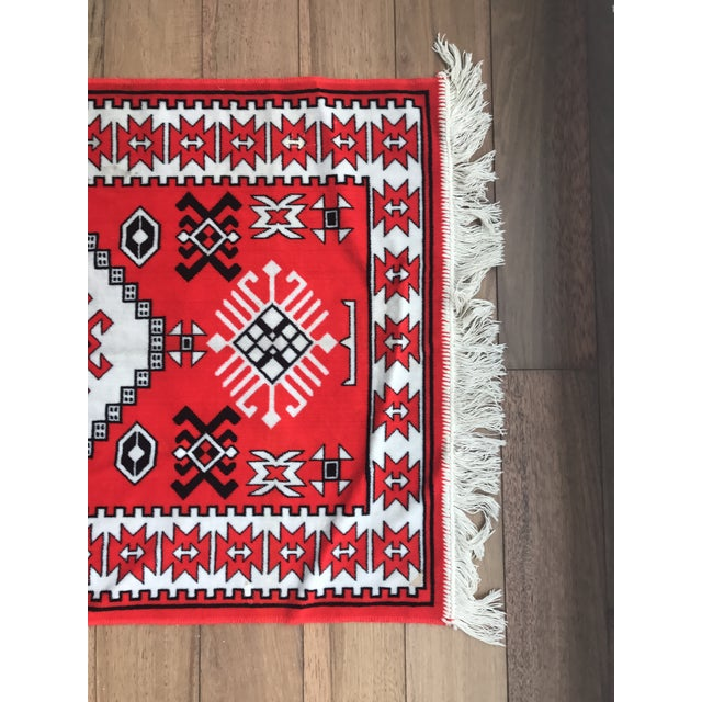 "Vintage Vibrant Red Rug - 2'3"" X 3'9"" - Image 6 of 6"