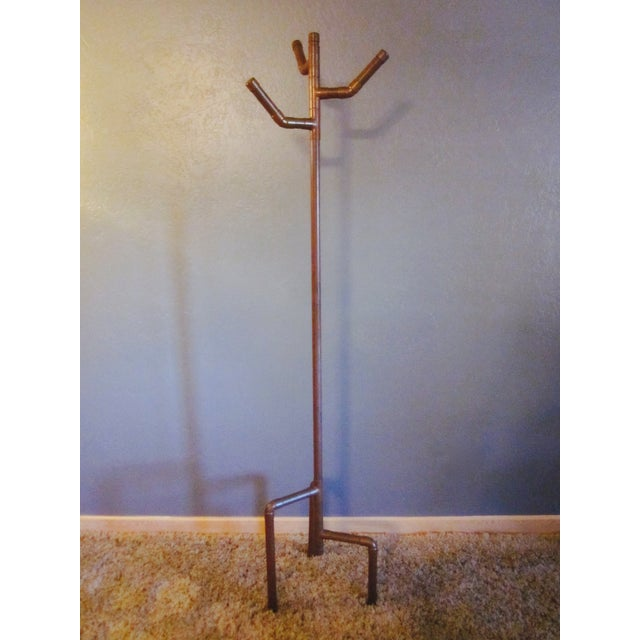 Modernist Copper Coat Rack Hat Tree - Image 10 of 11