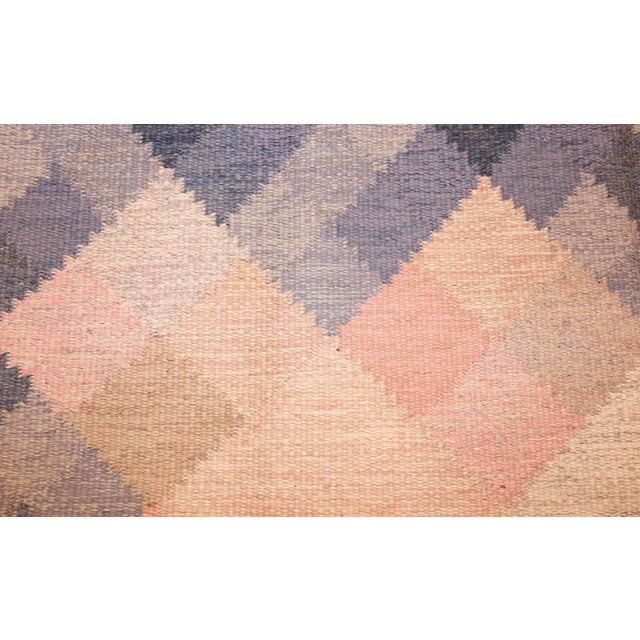Mid 20th Century Vintage Swedish Kilim Rug by Britta Swefors - 6′6″ × 9′3″ For Sale - Image 5 of 9