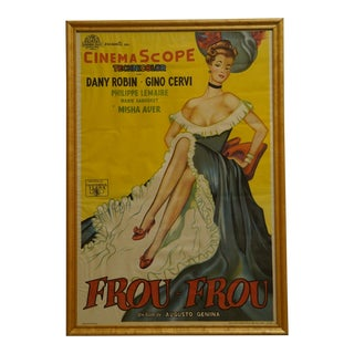 """1955 French """"Frou Frou"""" Original Release Litho Poster For Sale"""