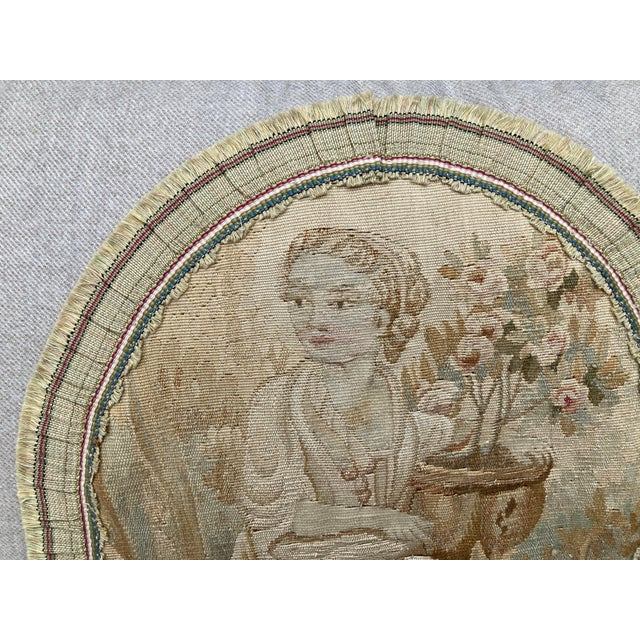 19th Century Aubusson Tapestry Pillows - a Pair For Sale In Philadelphia - Image 6 of 9