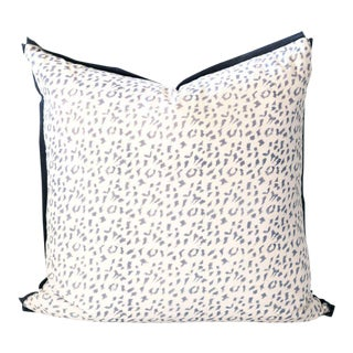 "Dotty Block Print Pillow - 26x26"" For Sale"