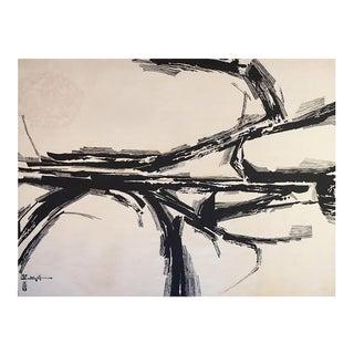 "Modern Tapestry Designed by Mathieu Matégot - ""Silence Blanc"" For Sale"