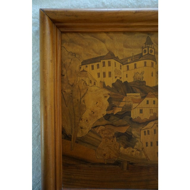 Vintage Marquetry Mourning Artwork For Sale In Los Angeles - Image 6 of 9