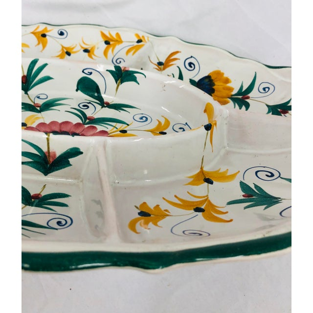 Vintage Hand Crafted Italian Ceramic Serving Platter For Sale - Image 9 of 13