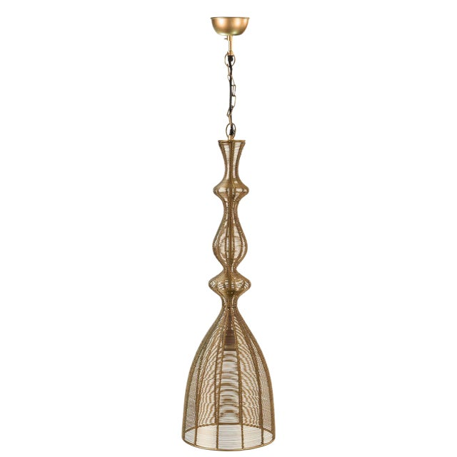Sarreid LTD 'Hobbs' Gold Pendant Light - Image 1 of 2