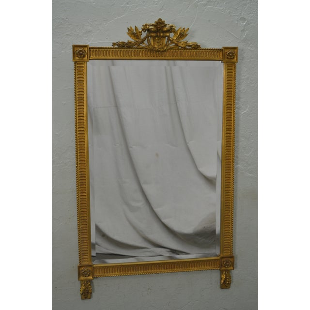 STORE ITEM #: 15843 Carvers Guild French Louis XV Style Gilt Frame Beveled Wall Mirror AGE/COUNTRY OF ORIGIN – Approx 21...