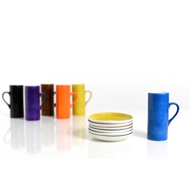 "La Gardo Tackett Espresso/Demitasse Cup Set in original box Manufactured by Schmid, Japan 1960's Porcelain Cup height 4.5""..."