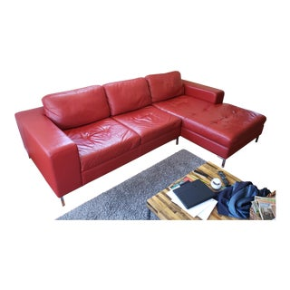 Palliser Genessa Leather Sectional For Sale