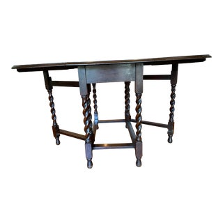 Mid 19th Century Antique Drop Leaf Table For Sale