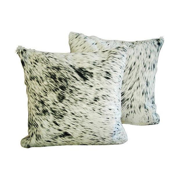 Custom Natural Cowhide & Down Pillows - A Pair - Image 6 of 6