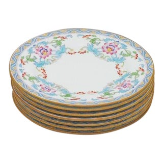 Antique Minton Bread Plates - Set of 7 For Sale