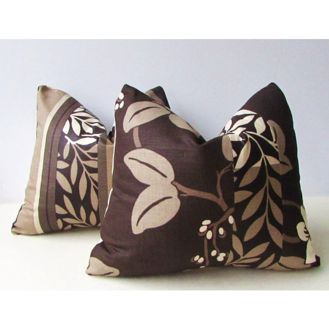 Romo Black & White Modern Floral Pillow Covers - a Pair For Sale - Image 4 of 8